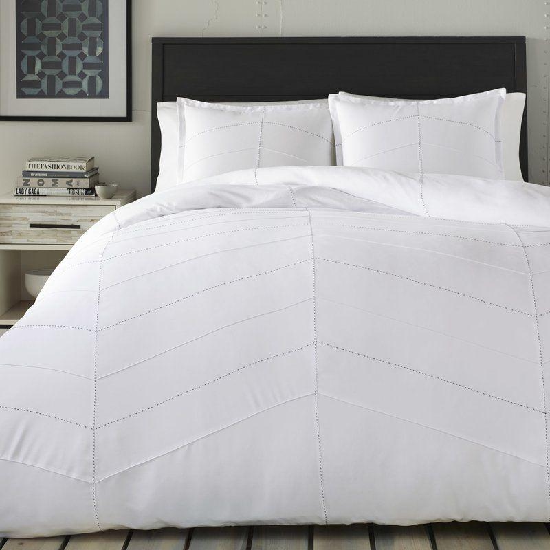 63 99 All Modern Methuen Duvet Cover Set Comforter Sets White Bed Set White Comforter