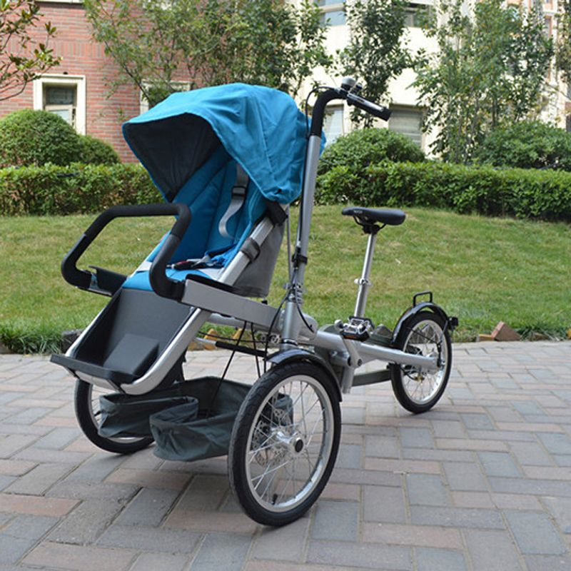 2017 Лидер продаж ребенок и мама велосипед тележка 3