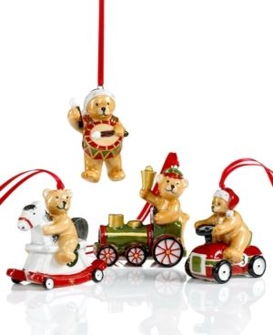 villeroy boch christmas ornaments set of 4 teddy 300 368 x is for xmas pinterest. Black Bedroom Furniture Sets. Home Design Ideas