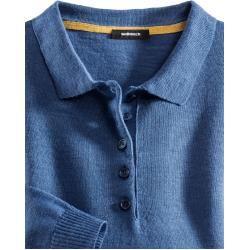 Photo of Walbusch Damen Polo-Pullover normale Größen Hellblau einfarbig Walbusch