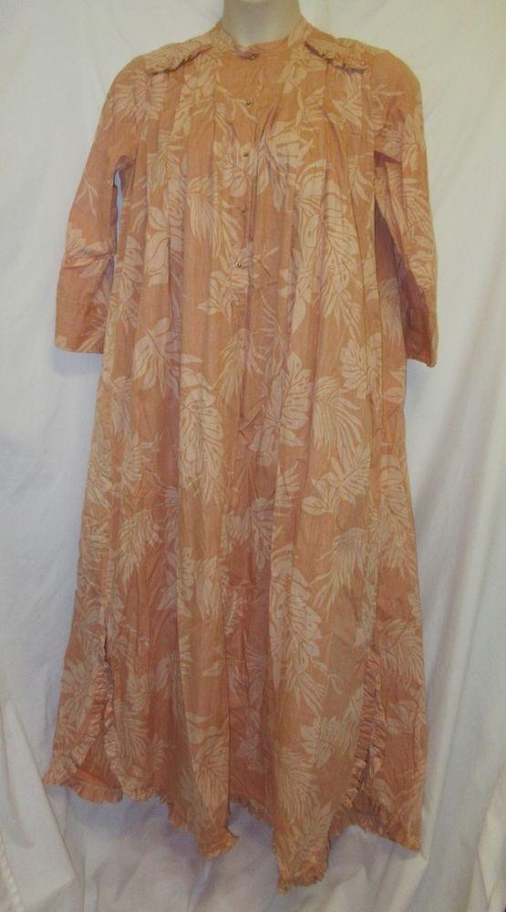 VTG Bete Bette Collection Reyn Spooner Hawaiian Dress Long Muumuu ...