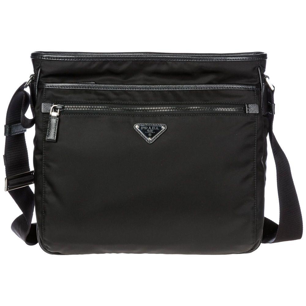 1deb15edf4d8 eBay #Sponsored PRADA MEN'S NYLON CROSS-BODY MESSENGER SHOULDER BAG BLACK  65D