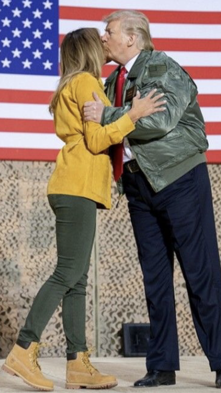 President & First Lady Melania Trump surprise visit to Troops, Iraq, Christmas 2018