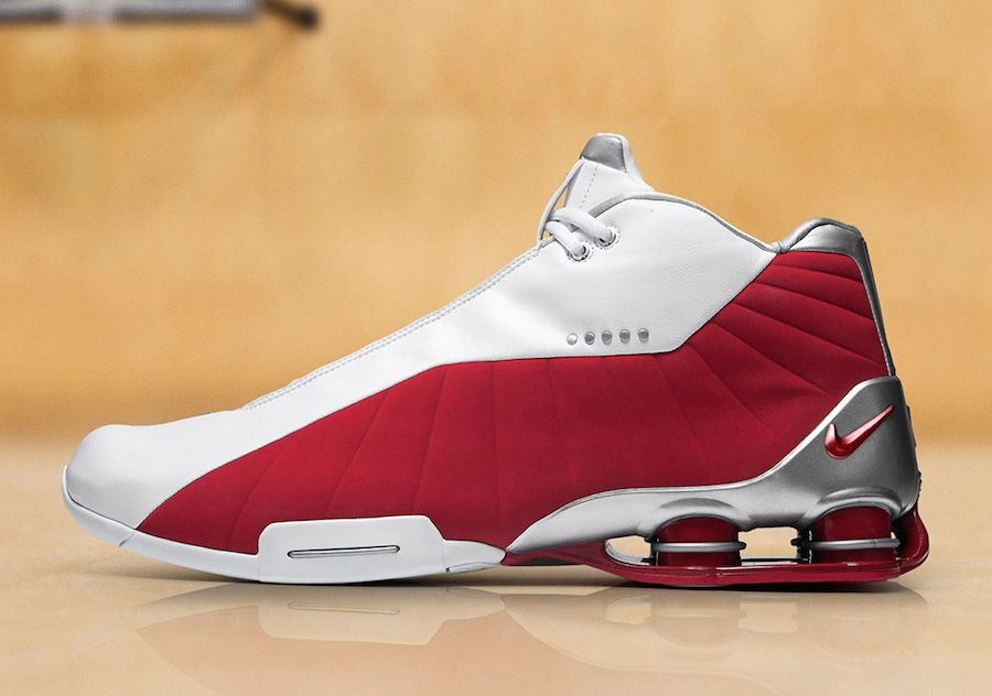 6e79290a8f08b Nike Shox BB4 Vince Carter 2019 White Red