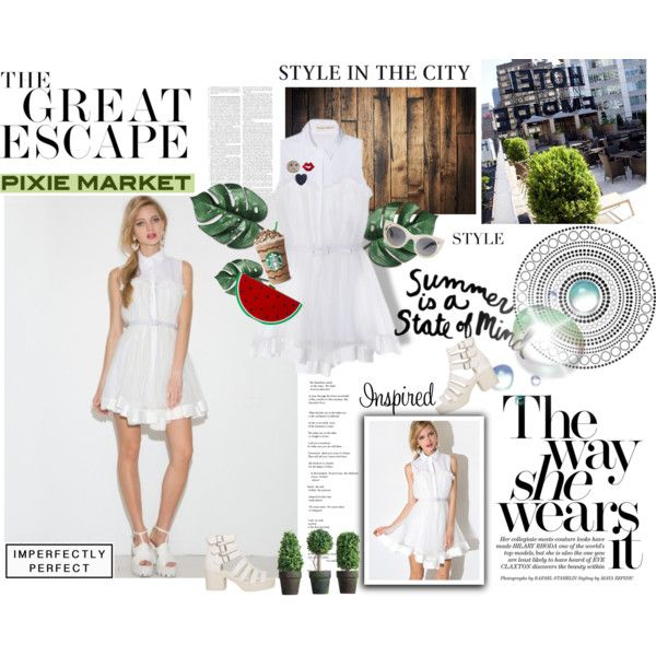 #pixiemarket Summer Style with Pixie-Market! by minojka on Polyvore featuring Alice McCall and THE HIP TEE