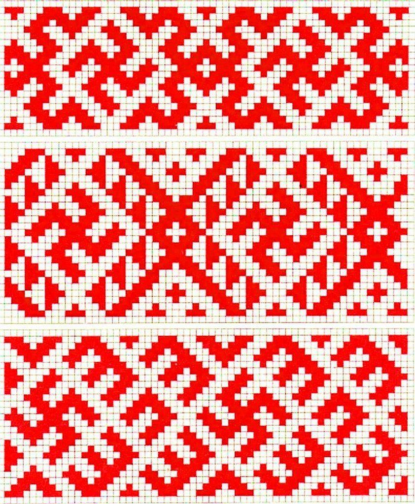 схема украинских узоров для сорочки