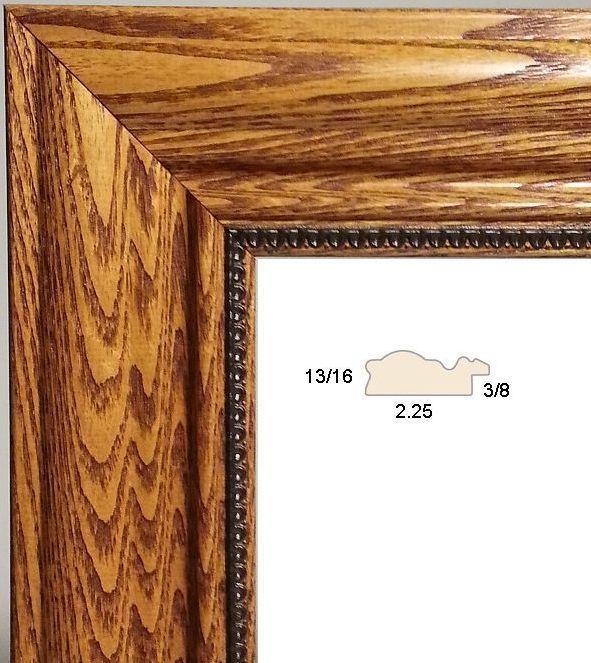 18 ft - Stamped Honey Brown Wood Picture Frame Moulding, Solid Ash ...