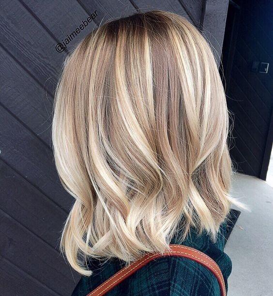 40 Chic Medium Length Hairstyles Blonde Bayalage Hair Cool