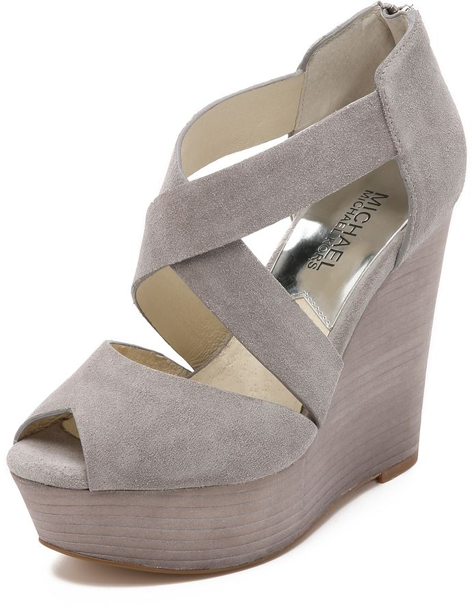 Goodbye Summer Shoes Dream Shoes Grey Wedge Shoes