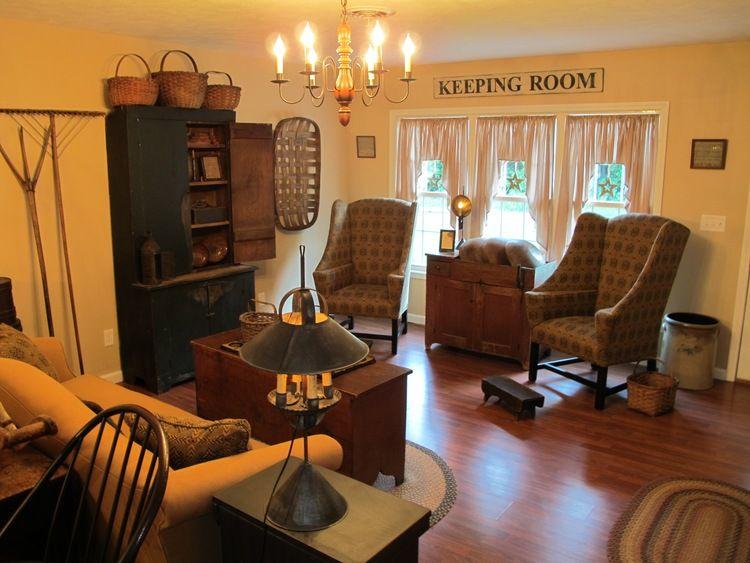 Living Room, Family Room, Rustic, Farmhouse, Primitive