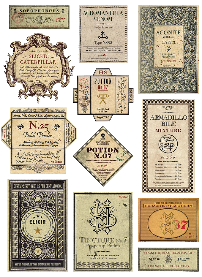 For The Harry Potter Enthusiast Wanting High Quality Diy S Or Just A Little Magic In There Eve Harry Potter Potions Harry Potter Potion Labels Harry Potter Diy