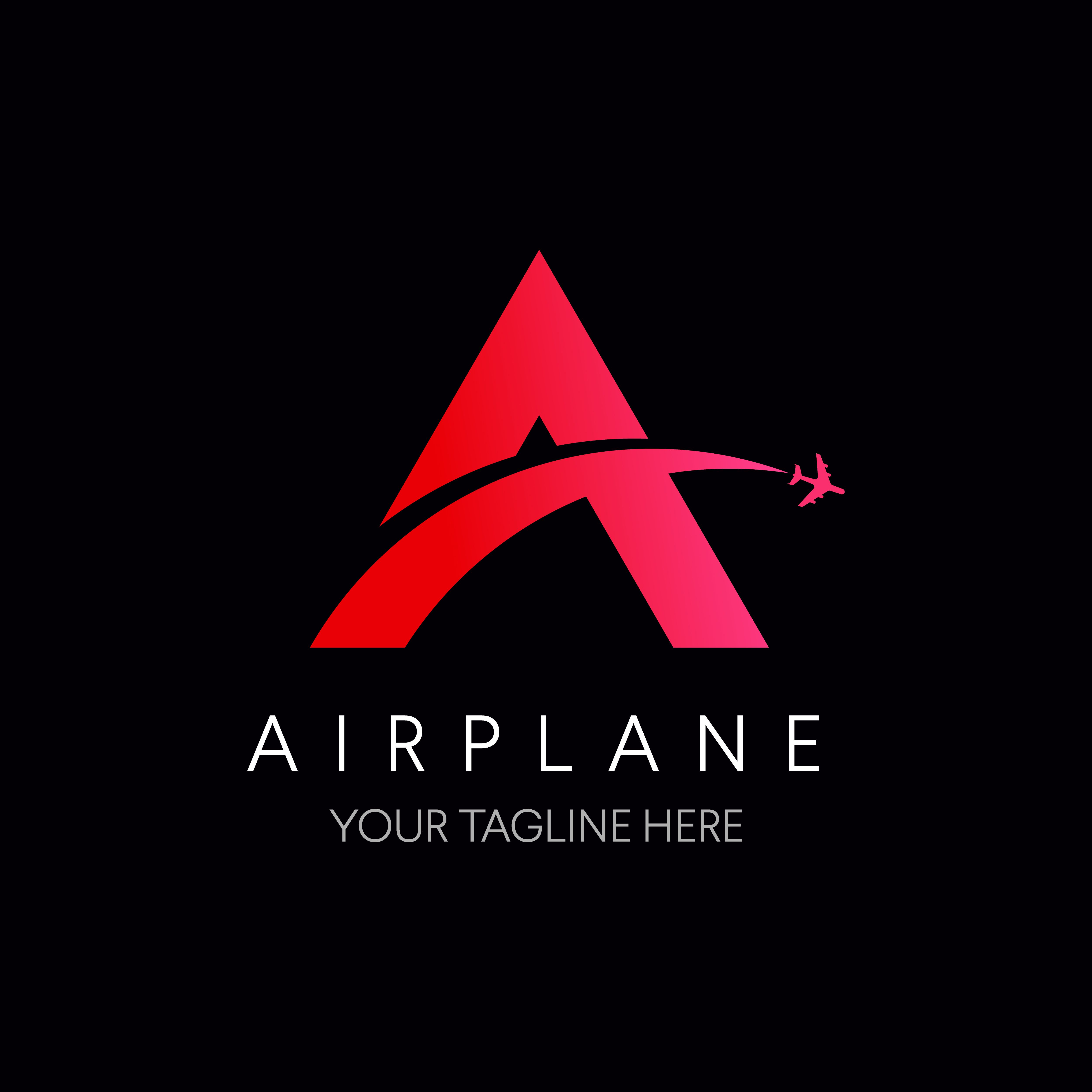 Letter A Logo With Airplane Symbol Travel Logo By Linimasa Travel Logo Letter Logo Fly Logo