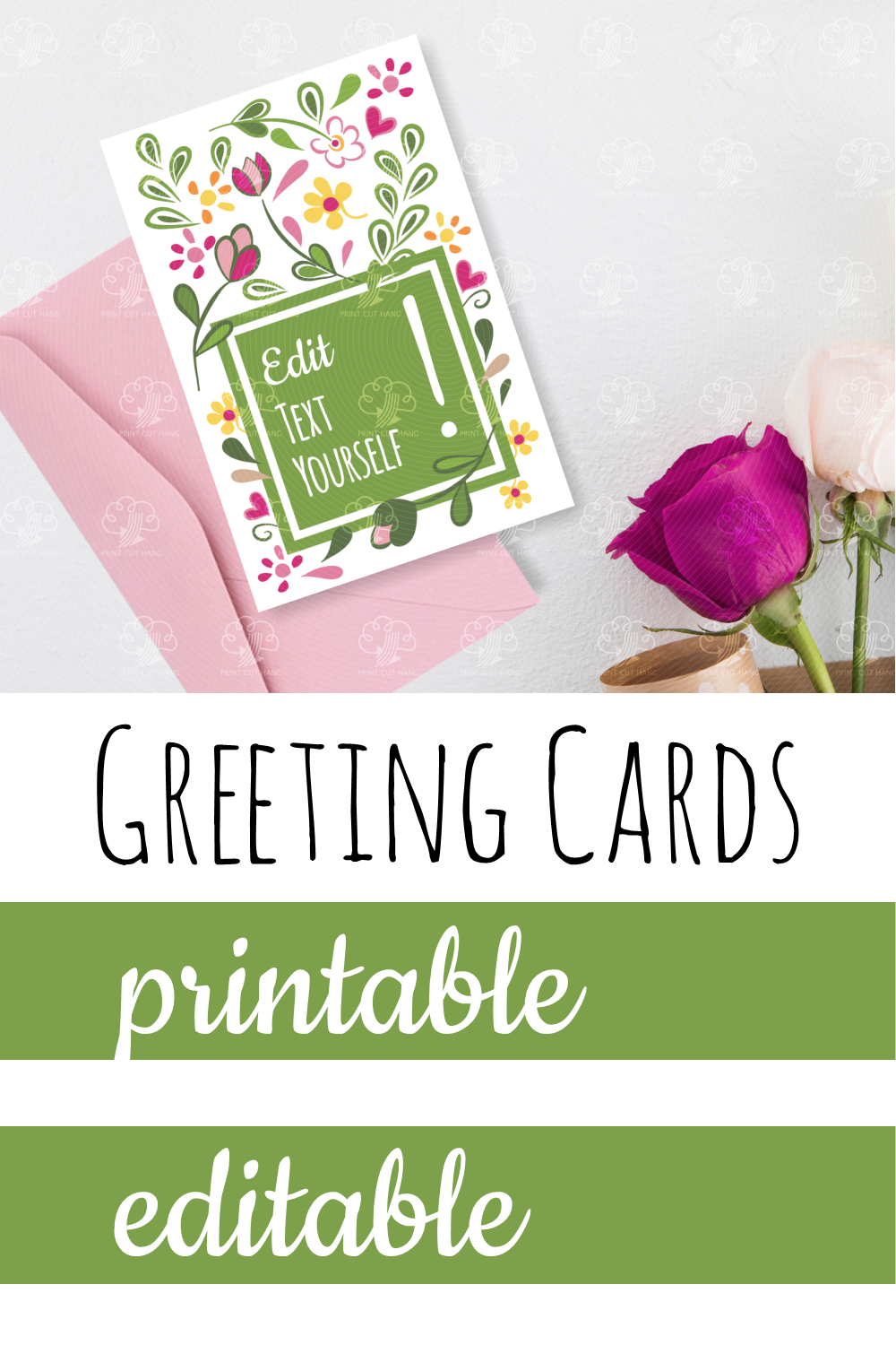 Customize Greeting Cards Yourself Floral Cards Design Floral Cards Card Design