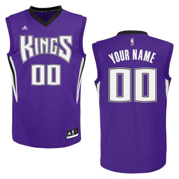 adidas Sacramento Kings Custom Replica Road Jersey - $109.99