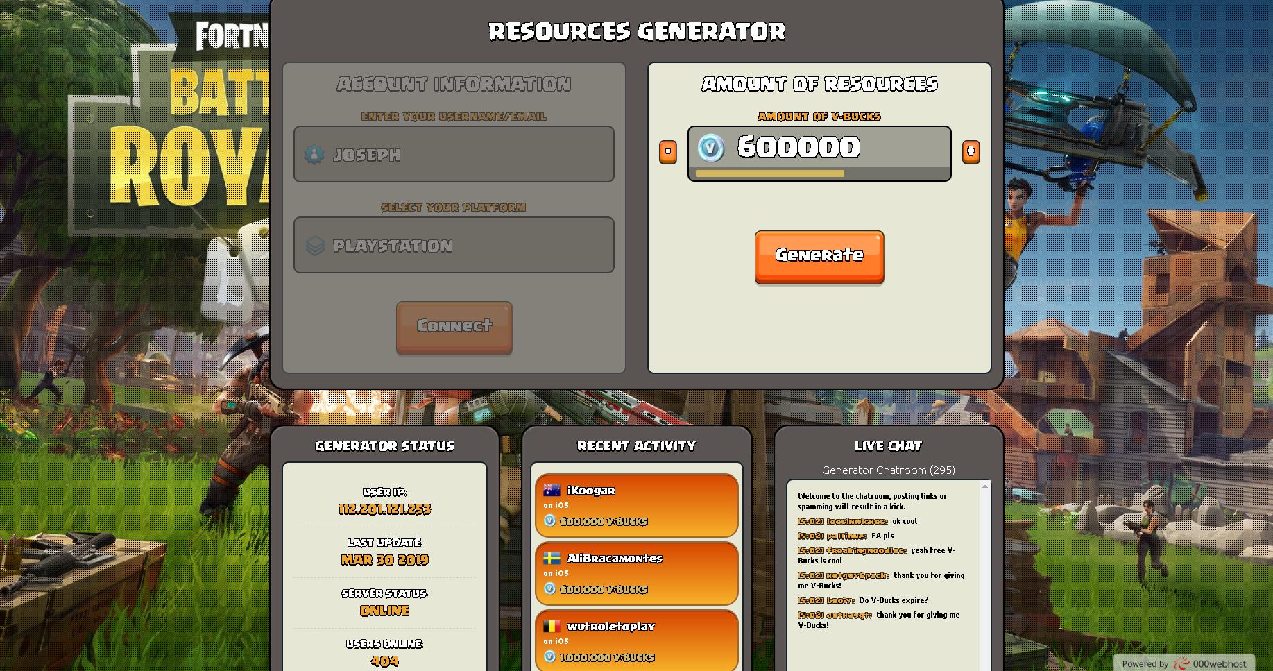 Fortnite Free V Bucks Generator Hack Fortnite Battle Royale Hack