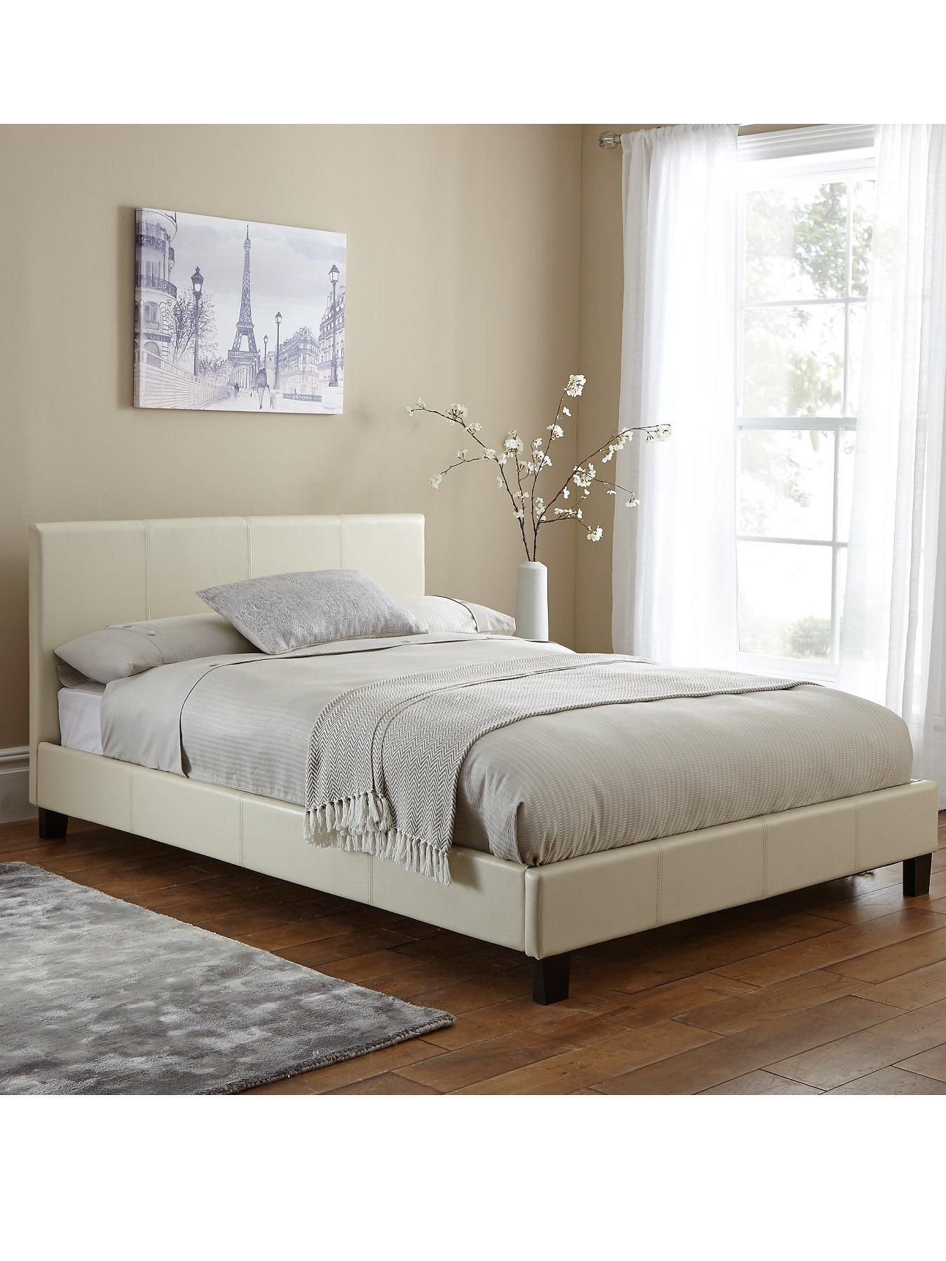 Leather Bed Frame Esme Faux Leather Bed Frame And Mattress Options Buy And Save