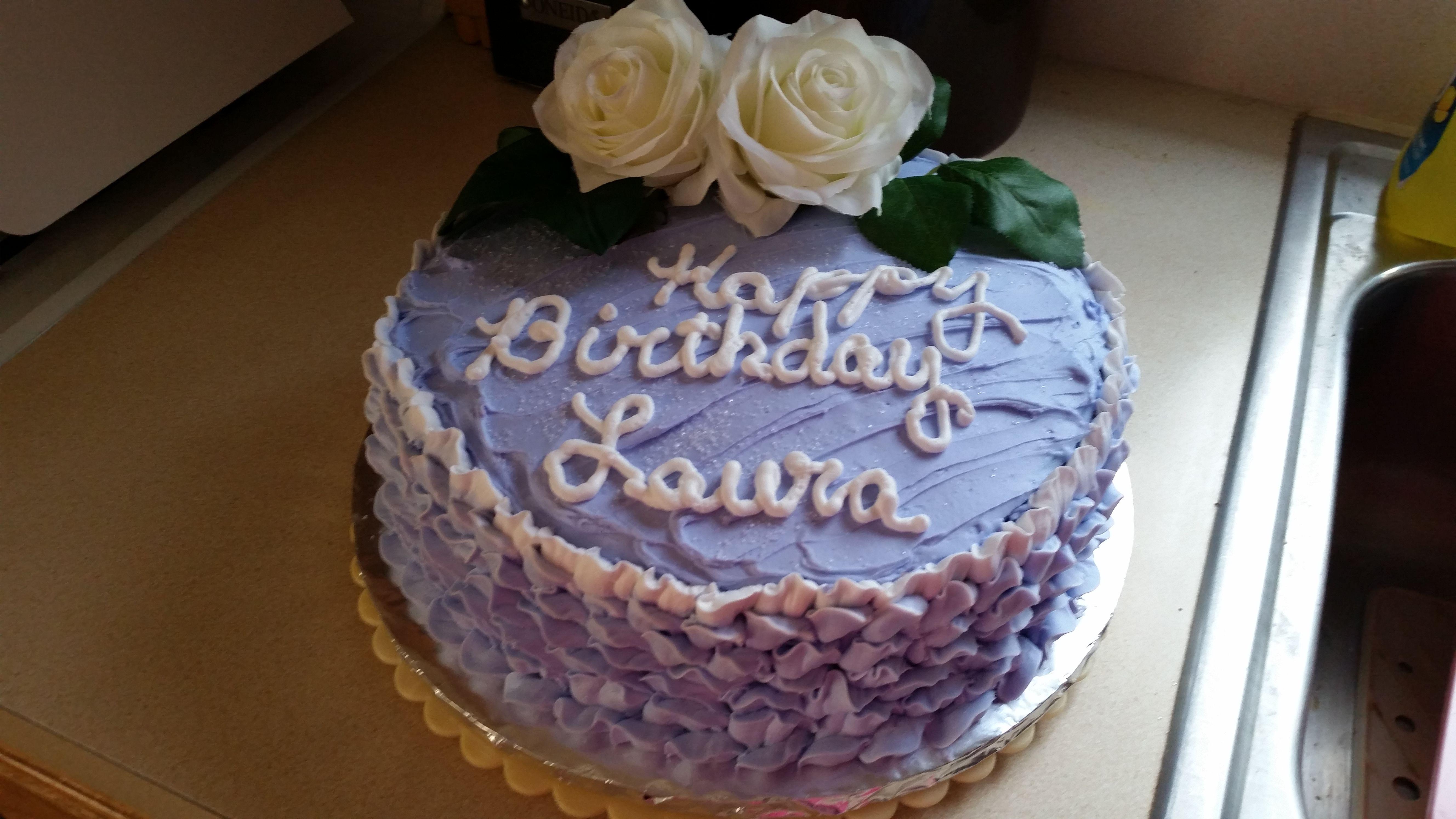 2 Layer Birthday Cake