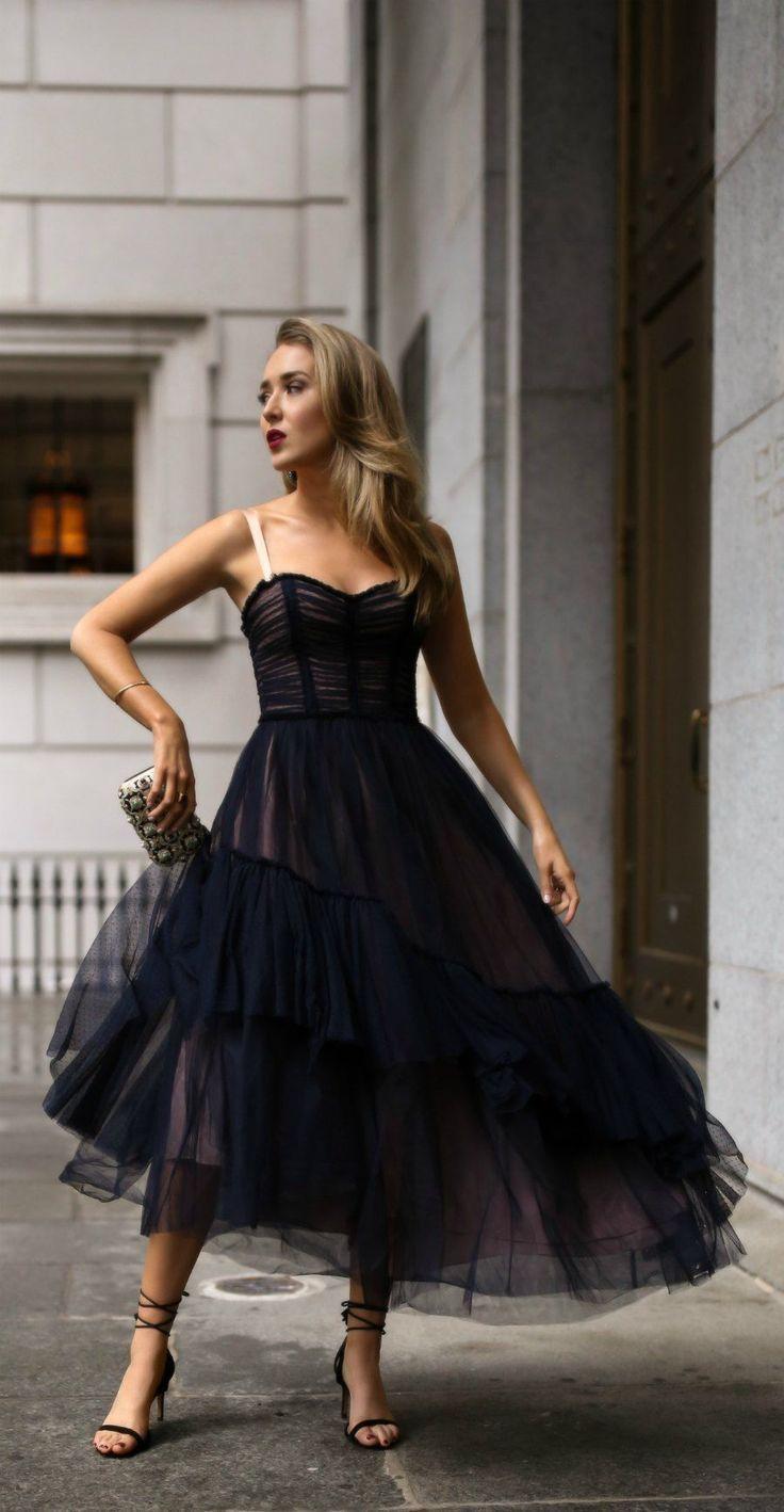 DAY 19: Charity Gala | Black tulle dress, Fashion, Nice dresses