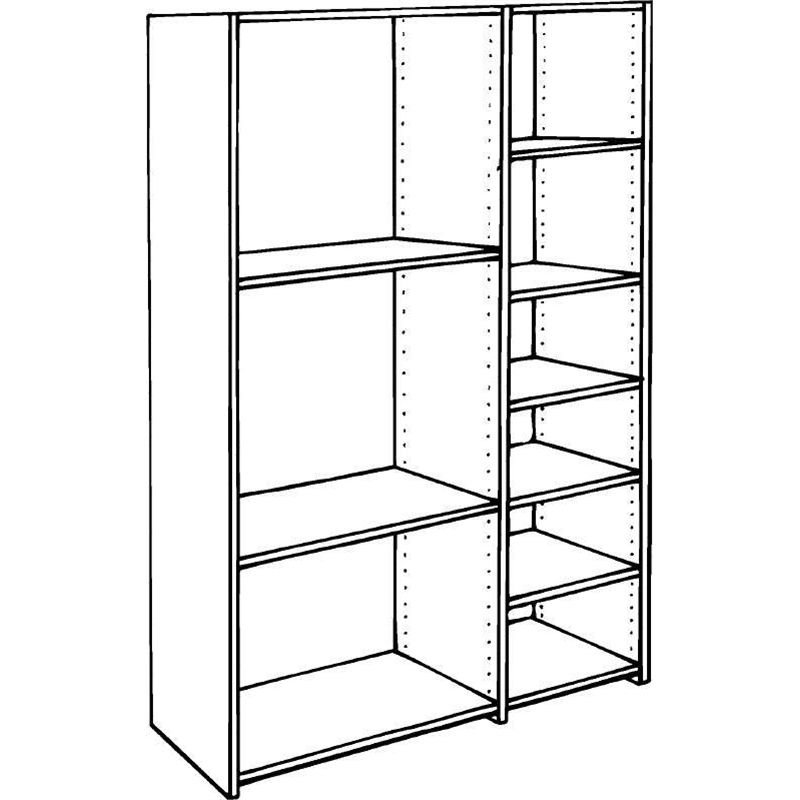 1800 X 445mm 16mm Abs Pre Drilled Melamine Shelving Melamine Shelving Drill Shelving Unit