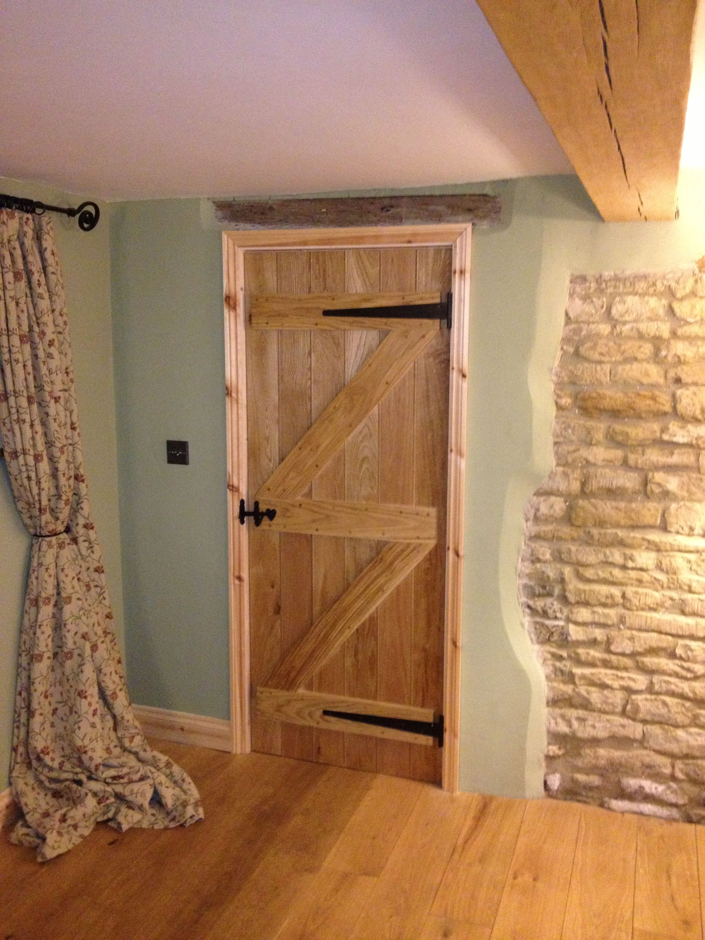 Wooden Internal Doors With: Ledge And Brace Cottage Door, Solid Oak #OakDoors #Ledge