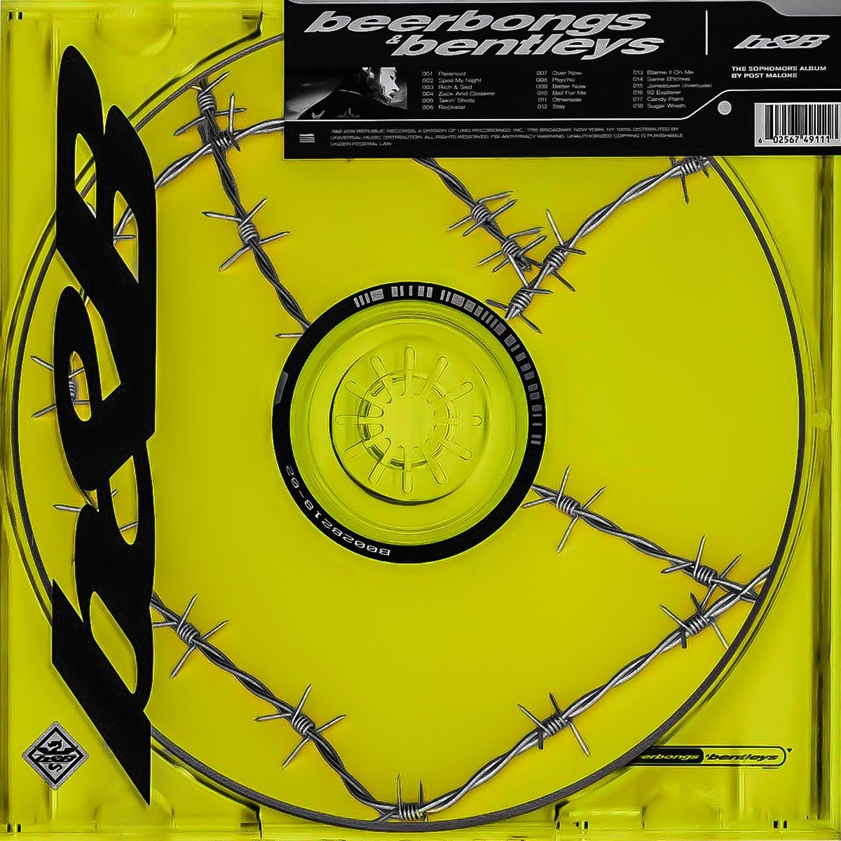 POST MALONE STONEY ALBUM COVER MAGNET HIP HOP RAPPER MUSIC BETTER NOW NOT A CD