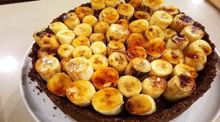 Torta chocobanana caramelizada