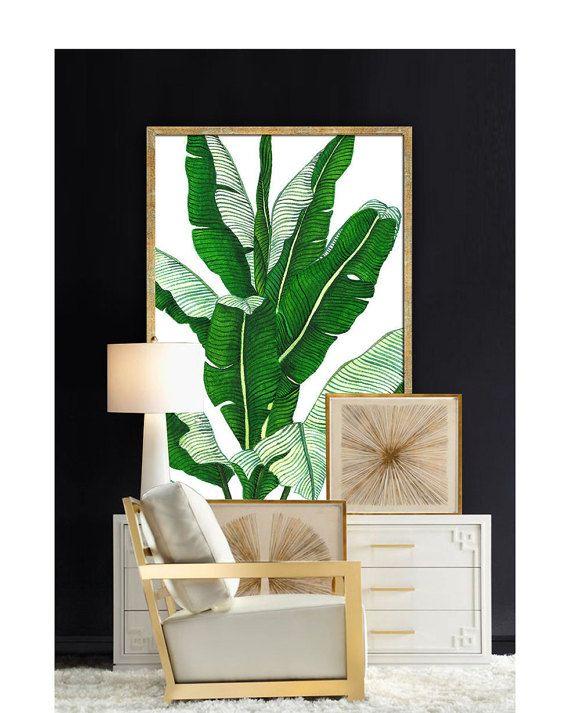 Banana Palm Poster druckbare Datei BG3 - Palm Kunst, Palm