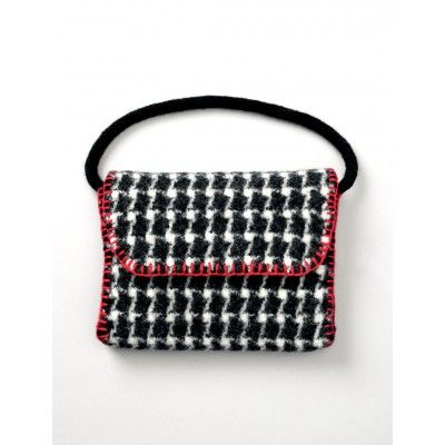 Felted Houndstooth Bag #free #knitting #pattern