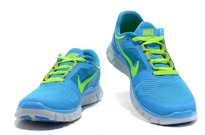 Nike Free Run 3 Frauen Powder Blue Electric Yellow