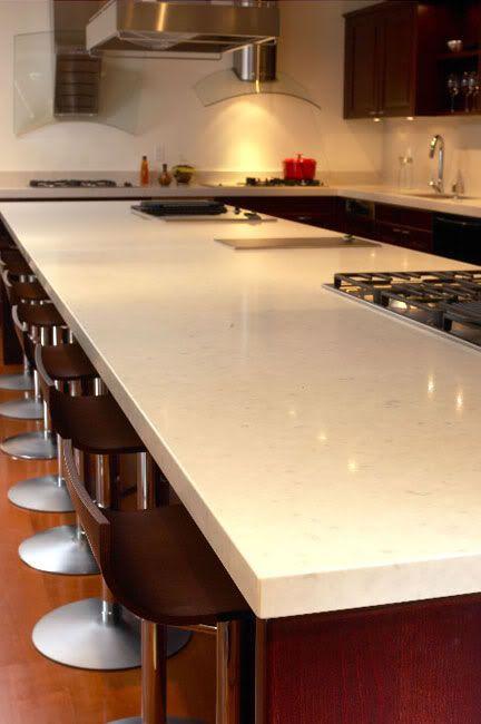 Caesarstone Misty Carrera Quartz Kitchen Countertops
