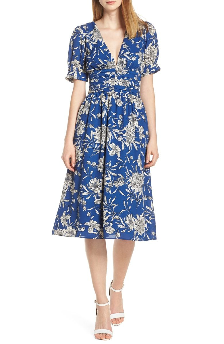 45bc54226d675 Free shipping and returns on 19 Cooper Shirred Waist Midi Dress at ...