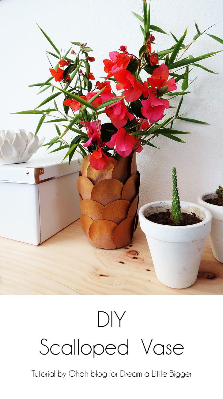 How to make a scalloped flower vase | Flower vases, Flower colors ...
