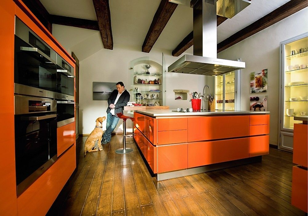 WARENDORF-Hoogglans-oranje-professionele-privekeuken Orange - warendorf küchen preise