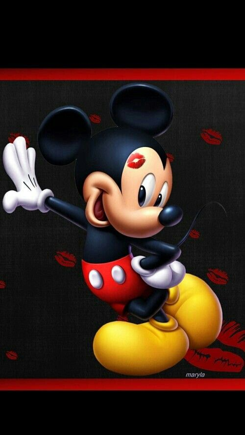 Mickey kisses Mickey Mouse Pinterest Kiss Mickey mouse and Mice