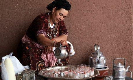 Berber woman performs a tea ceremony in Marrakesh, Morocco (Shutterstock)