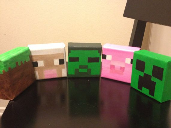 Minecraft 4 x4 canvas paintings your choice creeper - Minecraft creeper and steve ...