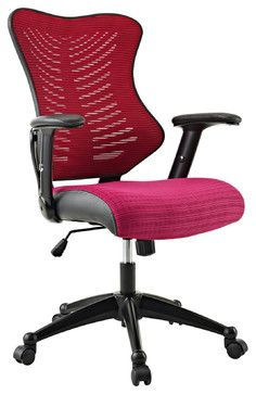 Clutch Office Chair with Black Mesh Back and Seat - modern - Task Chairs - LexMod