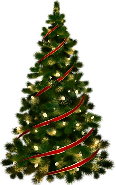 Large Transparent Christmas Tree With Red Ribbon Clipart Ribbon On Christmas Tree Christmas Paintings Christmas Card Crafts