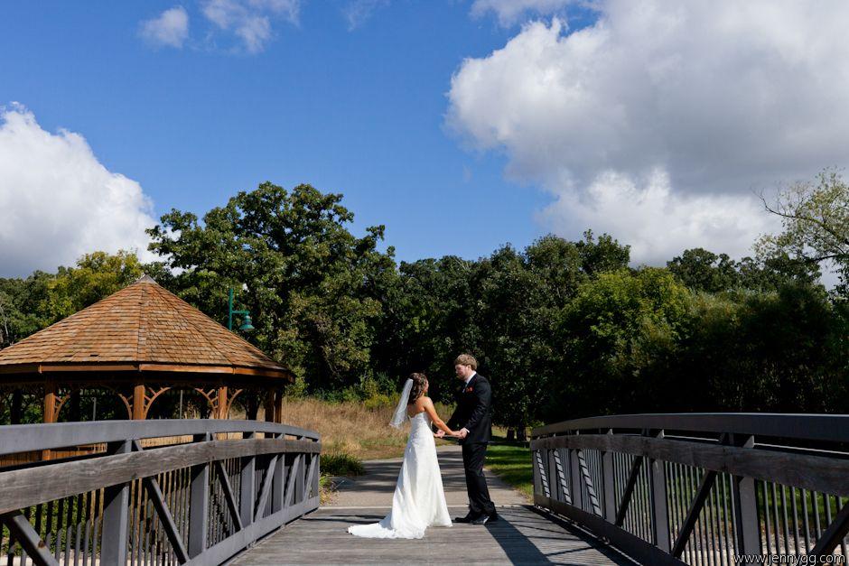 Outdoor Wedding Photo At The Eagan Community Center Wedding