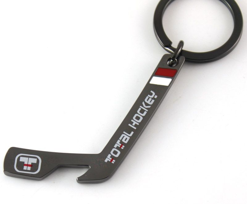 Custom Hockey Stick bottle opener keychains | Custom