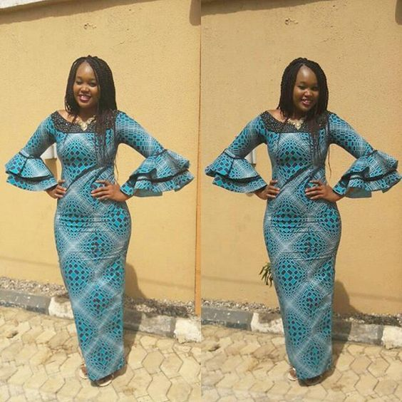 Simplicity is Bae; Straight Ankara Long Gown Styles You Will Love ...
