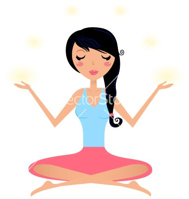 cute woman doing yoga asana isolated on white vector image on