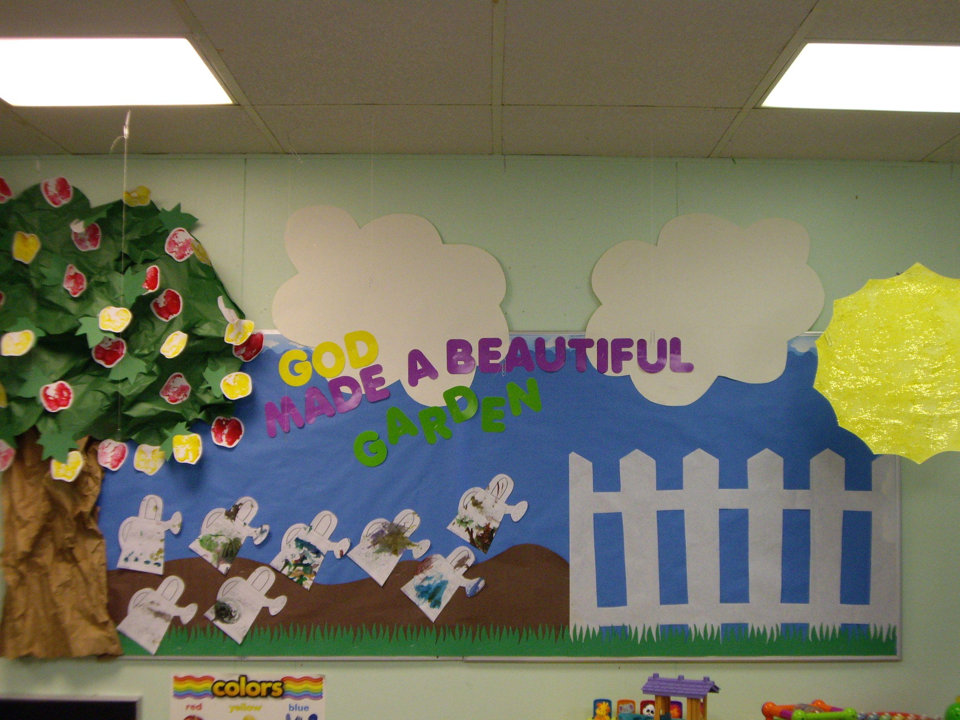 Beautiful Garden Bulletin Board By The Wonderful Miss