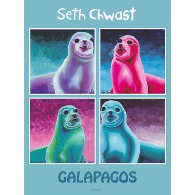 #GMercyU #autismawareness Seth Chwast: Galapagos Poster Autistic, award winning artist