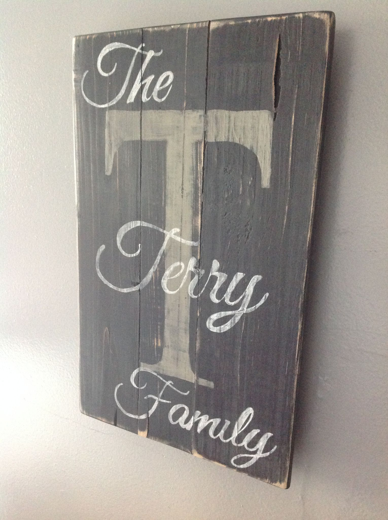 Personalized Wood Sign Painted Black With White Lettering And Cream Back Letter Sealed For Protection 16 1 Personalized Wood Signs Wood Signs Painted Signs