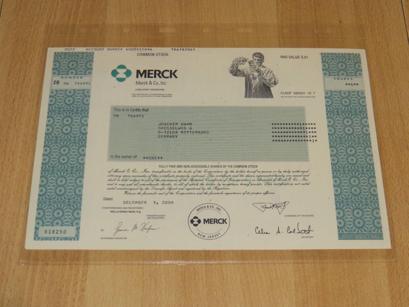 Aktie Merck Co