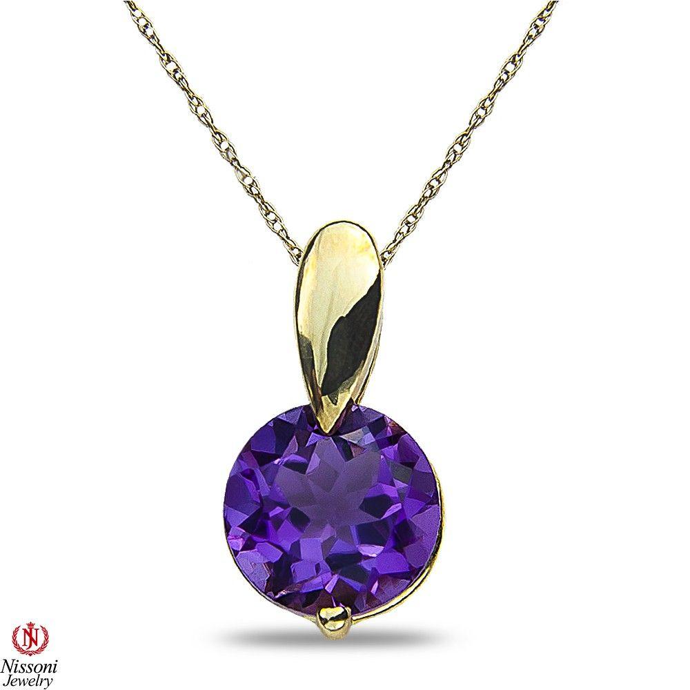 Ebay NissoniJewelry presents Ladies Amethyst Pendant and chain in