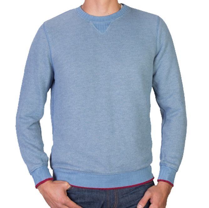 Homespun French Terry Sweatshirt (Columbia Blue Heather)