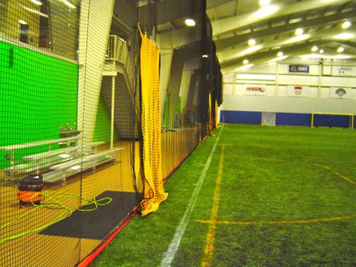 Divider Nets At Indoor Soccer Complex Keeper Goals Offers A Wide
