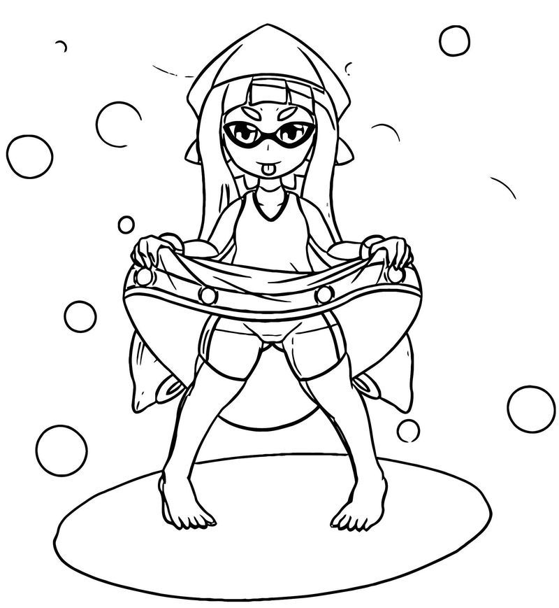 Squid Girl Coloring Page 330. Also see the category to